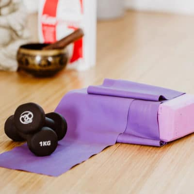 Adele Stickland Pilates weights and bands