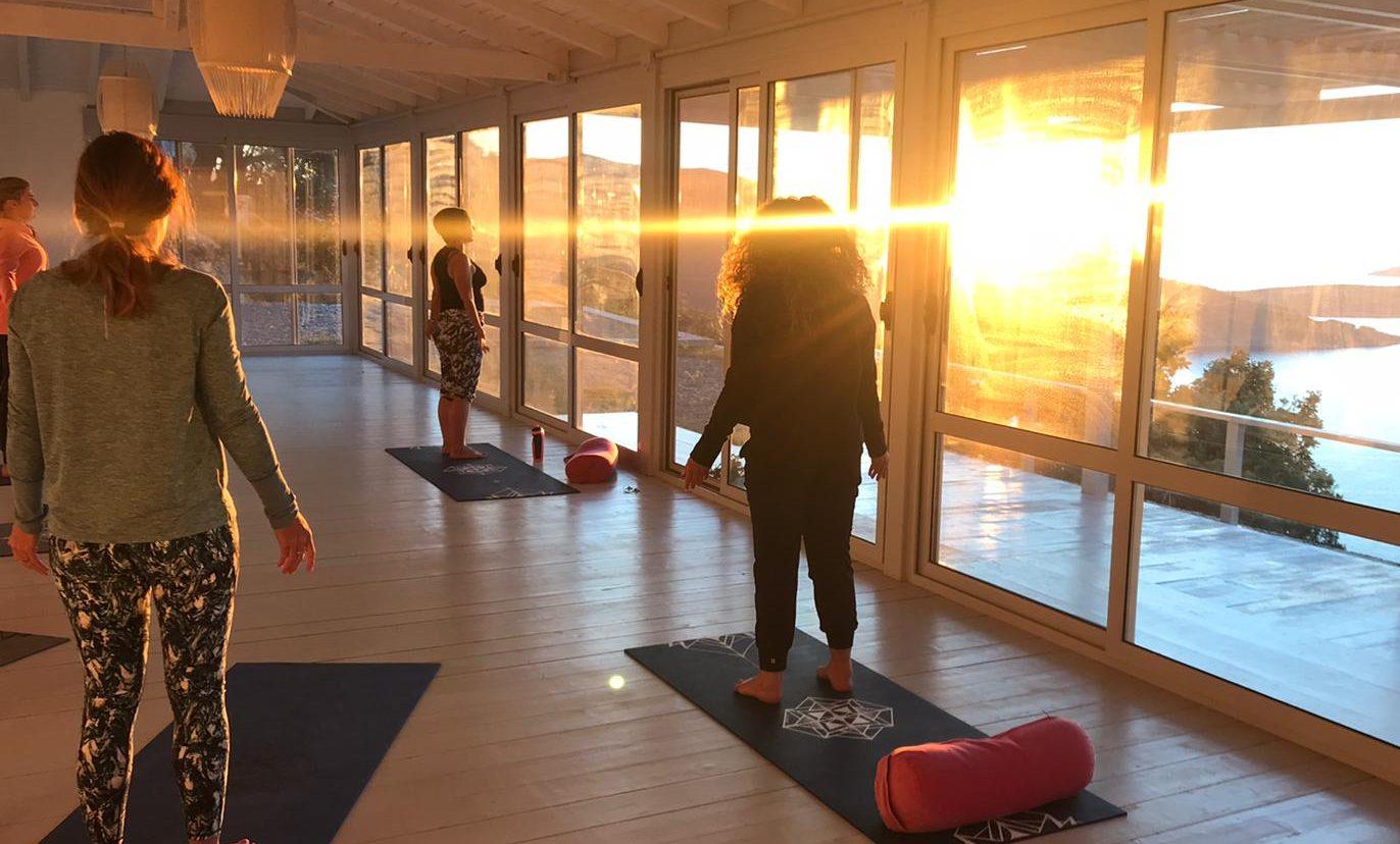 Pilates early morning sun